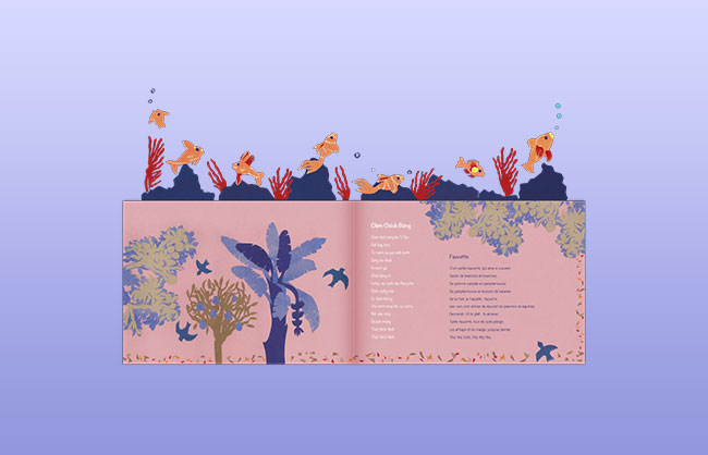 Layout for a bilingual children's book